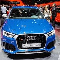 Для Audi Q3 изменение RSQ3 Стиль передний капот Центр решетка гриль стайлинга автомобилей 2016 2017 2018 2019