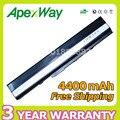 Apexway batería de 6 celdas 4400 mah para asus li-ion a52 a52j K42 k52 K42F K52F K52J k52jr Series A31-K52 A32-K52 A41-K52 A42-K52