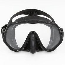 Dykmaske Undervattenförsegling Silikon Snorkel Dykning Simglasögon Härdat glas för vuxenfri dykning