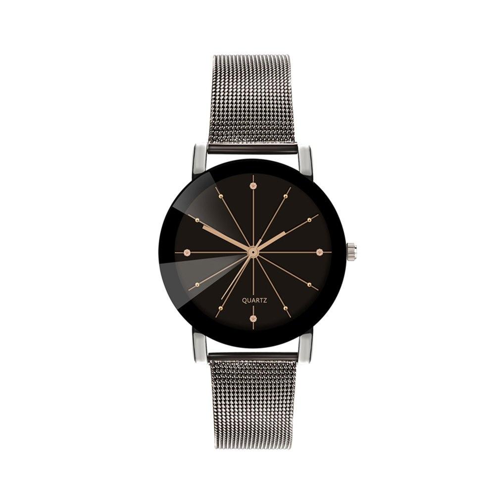Mesh Belt Quartz Watch Casual Retro Nostalgic Style Fashion Creative Design Simple Watch Luxury Style Simple