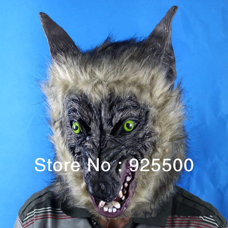 FREE SHIPPING Halloween WEREWOLF LATEX MASK HALLOWMAS MASK FANCY DRESS ANIMAL WOLF SCARY DOG WAREWOLF ZOMBIE 1pcs SH860088-in Party Masks from Home ... & FREE SHIPPING Halloween WEREWOLF LATEX MASK HALLOWMAS MASK FANCY ...