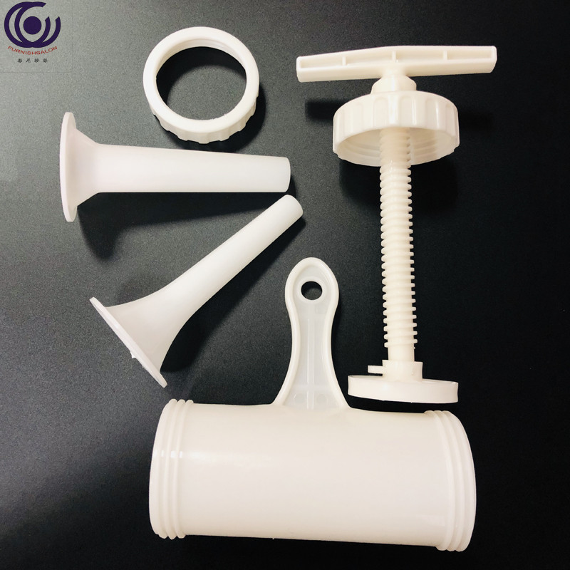 Sausage food stuffer maker Grinder Meat Filler Machine Nozzle Machines Funnel Tools plastic Set Kit two tube 2cmX2meter casing in Basters from Home Garden