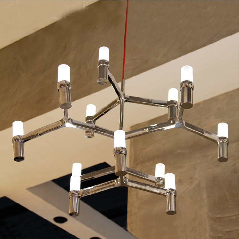 Design lampe pendentif éclairage couronne principale Duplex Villa pendentif éclairage pour restaurants 12 têtes 3 couches bougie pendentif lumière