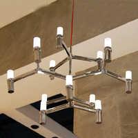 design lamp pendant lighting CROWN MAJOR Duplex Villa pendant lighting for restaurants 12 Heads 3 layers Candle Pendant Light