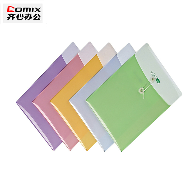 Super Cute Document File Folder A4 Office School Supplies Double Layer File Bag Case For Documents Plastic Waterproof Folder