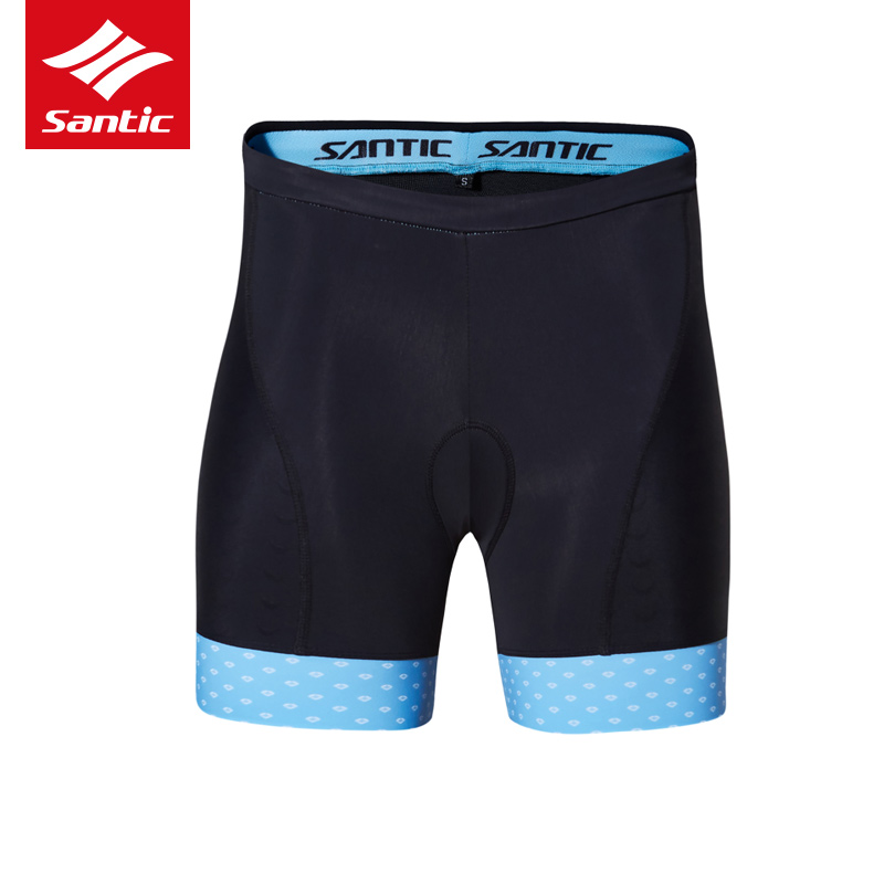 Santic Cycling Shorts Women Blue Pink GEL 4D Pad Quick Dry MTB Bicycle Shorts Road Bike Shorts Ropa Ciclismo Tights in Cycling Shorts from Sports Entertainment