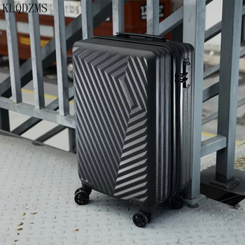 KLQDZMS NEW travel suitcase 20/24nch ABS rolling luggage spinner zipper frame  brand trolley suitcase on wheels