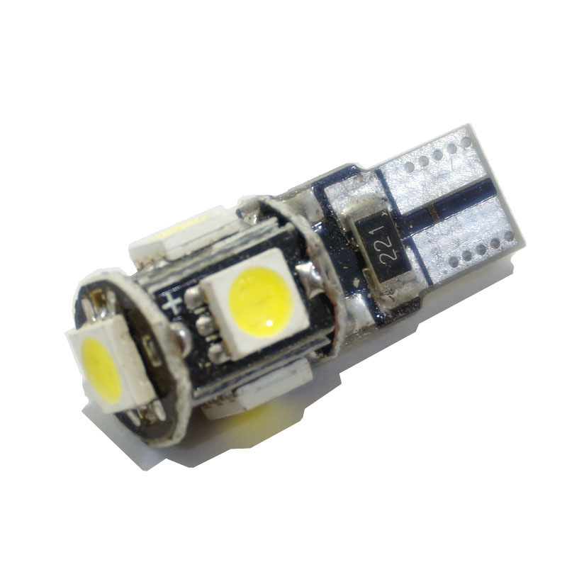 100pcs/lot T10 5 smd 5050 led Canbus Error Free Car Clearance Lights W5W 194 5SMD LIGHT BULBS NO OBC ERROR White wholesale 10pcs lot canbus t10 5smd 5050 led canbus light w5w led canbus 194 t10 5led smd error free white light car styling