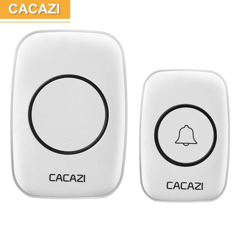 CACAZI Newest LED Smart home DoorBell Waterproof 300m work range Mini Wireless Door bell AC 100-240V 38 Ring tunes door chime цена