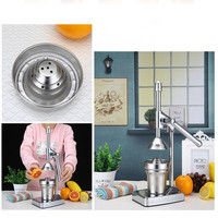 Stainless Steel Citrus Fruits Squeezer Orange Lemon Manual Juicer Lemon Fruit Hand Pressing Machine Press Juicer