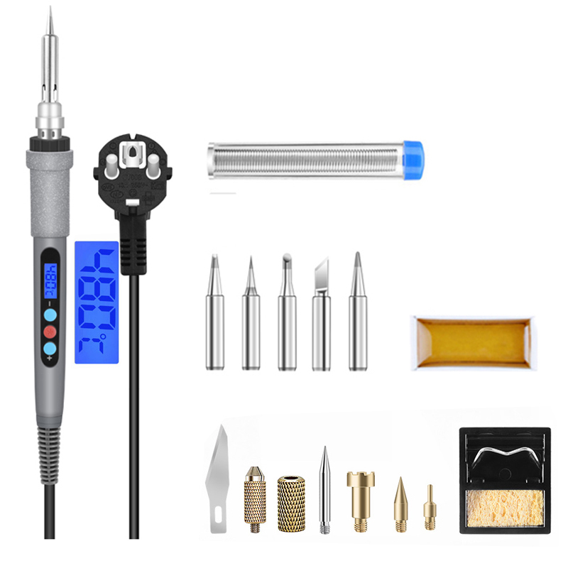 220V EU / 110V US Lcd LCD Digital Display Soldering Iron 60w Controllable Temperature Soldering Iron Soldering Tool