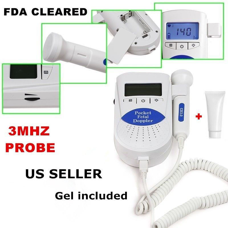Sonoline-B 3MHZ Fetal Heart Rate Monitor , Free Gel,High Sensitivity Ultrasonic Probe,Baby Heart  Beat Testing