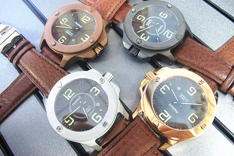 47mm Parnis Fashionable 21 Jewels Automatic Sapphire Crystal Watch with 4 Colors