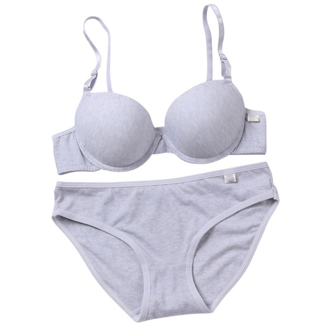 59478cc77f ROPALIA Women B Cup Sexy Push Up Underwire Bra 3 4 Light Padded V-Neck  Female Soft Lingerie Solid Underwear Gray Black White