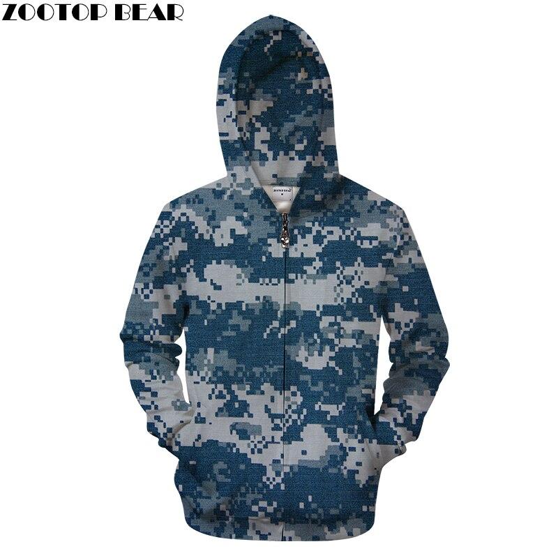 Men's Clothing 2019 Fashion Shine Camo 3d Zipper Hoodies Men Zip Sweatshirt Casual Tracksuit Groot Hoody Pullover Coat Streatwear Autumn Dropship