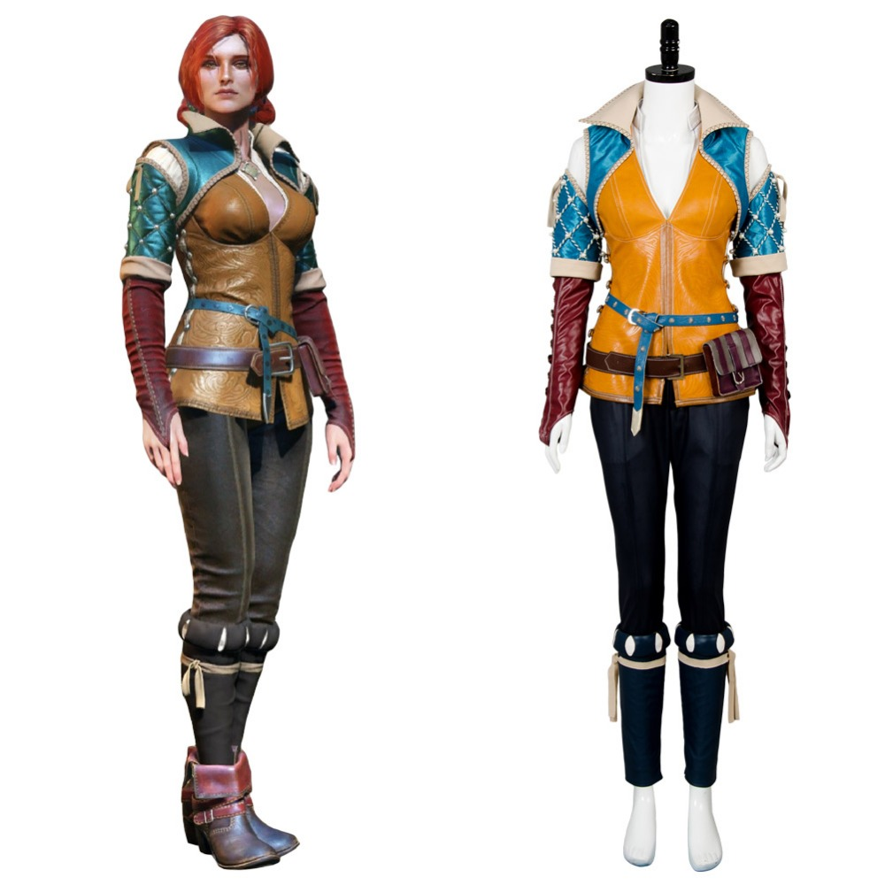The Witcher 3 Wild Hunt Cosplay adulte Triss Merigold Costume Halloween carnaval femmes Cosplay Costume sur mesure toute taille