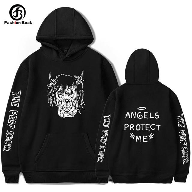 Lil Peep Hoodie The Peep Show Hoodies Angels Protect Hoody Hip Hop Clothes Gothboiclique Rap Band Jacket Men Casual Long Sleeves