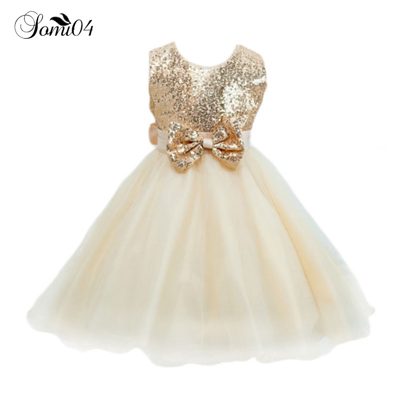 2018 Flower Girls Dresses Sequins Children Ball Gown Princess Wedding Party for Birthday Girl Clothing Summer Kids Tutu Dress summer kids girls lace princess dress toddler baby girl dresses for party and wedding flower children clothing age 10 formal