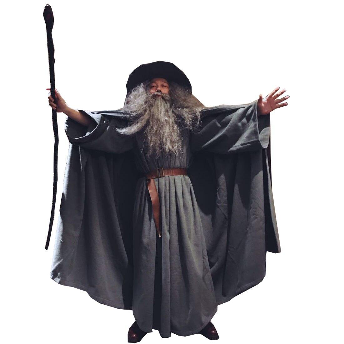 2019 seigneur des anneaux Gandalf Cosplay Costume Robe le Hobbit adulte assistant cape chapeau