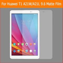 BEST Anti-glare matte protector movie For Huawei T1 notice A21W A21L 9.6″ pill entrance Anti-Fingerprint display screen protecting movies