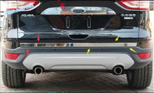 цена на Lapetus Car Styling Rear Tail Behind Trunk Strip Cover Trim Fit For Ford Kuga / Escape 2013 2014 2015 / Stainless Steel