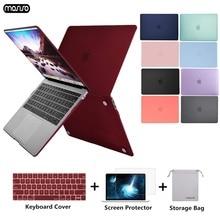 MOSISO Matte Laptop Case Para Macbook Pro Retina Air 11 12 13 15 Capa Para 2018 Novo Ar 13 A1932 new Pro 13 15 com Barra de Toque