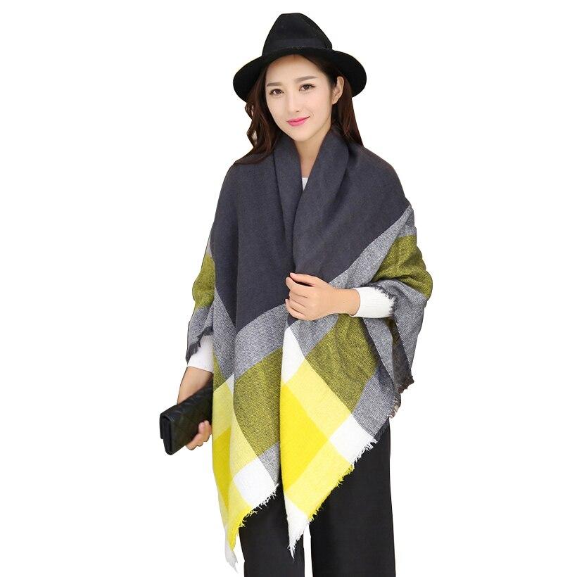 Foulard Schal Frauen winter helle schals pashmina bufandas acryl grund weibliche gestrickte herbst Plaid Blanket Schal Schals quaste