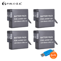 4pc 1800mAh Li ion digital camera battery for GoPro Hero 5 Gopro 6/7 2018 Camera Battery AHDBT 501 Gopro 6 GoPro Camera AHDB