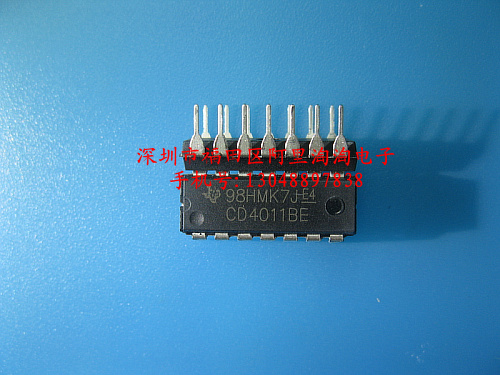 CD4011BE DIP14 Four two input nand gate into domestic original--ALTT2