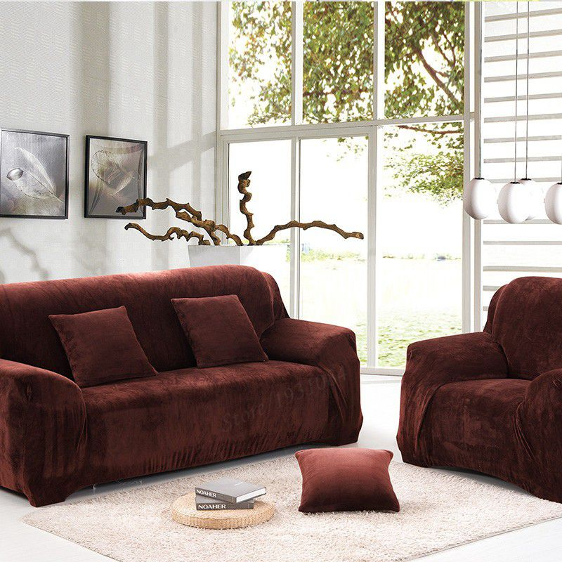Universal Sofa Cover Thicken Warm Plush Coffee Slipcover