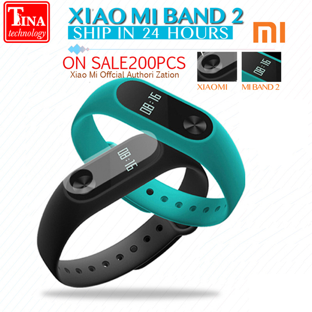 Original Xiaomi Mi Band 2 Smart Bracelet Heart Rate Monitor Xiaomi band 2 Smart Wristband miband 2 With OLED Screen in Stock