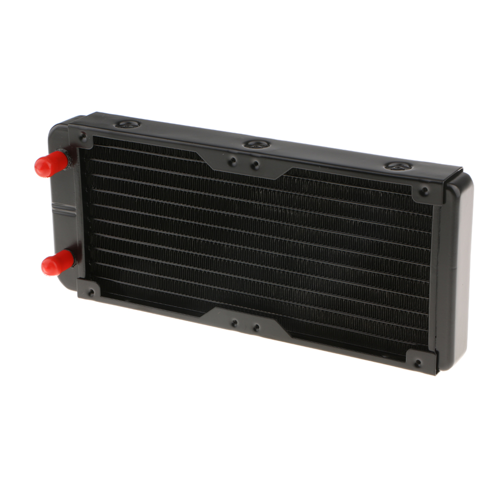 MagiDeal Alloy Computer Radiator 240mm 10 Pipes Water Cooler Cooling for CPU Heatsink