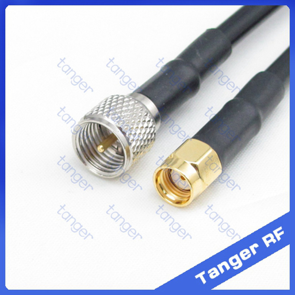 High quality  Mini UHF male plug PL259 SL16 to RP-SMA  male  connector  RF RG58 Pigtail Jumper Coaxial Cable 20inch 50cm new new rg316 coaxial cable sma male to rp sma male plug pigtail 15cm 6inch rf adapter wire connector