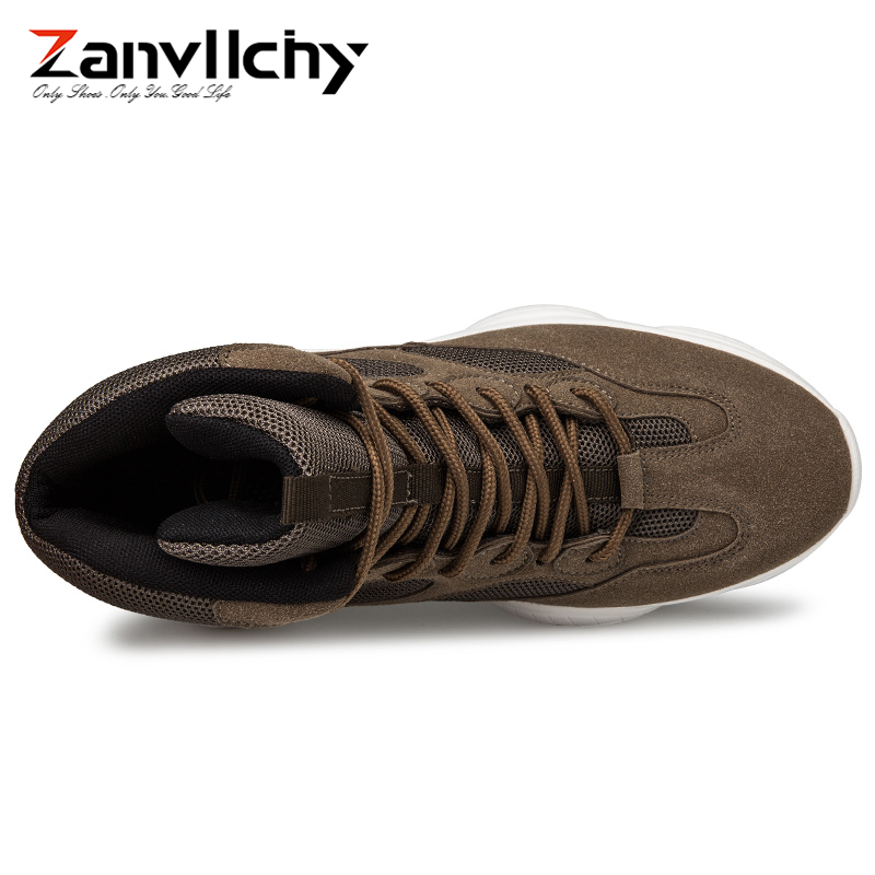 Chaussures Homme Sneakers Casual Mode À High De Lacets Hiver Respirant kaki 2018 Top Chaussure Automne Bottes Zanvllchy Hommes noir Formateurs Beige wxqIAa80z