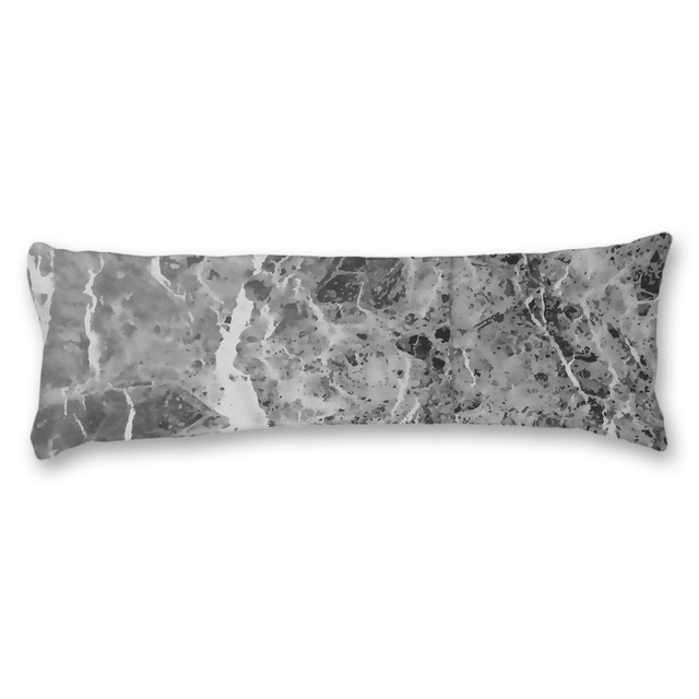 Body Pillow Cover 20 54 Long Pillowcase Marble Grey Case Cotton Soft Washable Print Pillowcases Home Bedding For Friend