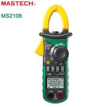 MASTECH MS2108 AC DC токоизмерительные Т-RMS цифровой auto range мультиметр Вольтметр Амперметр Конденсатор тестер Сопротивления