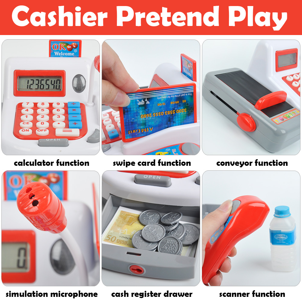 Kids-Supermarket-Cash-Register-Electronic-Toys-with-Foods-Basket-Money-Children-Learning-Education-Pretend-Play-Set-Red-Pink-D50-1