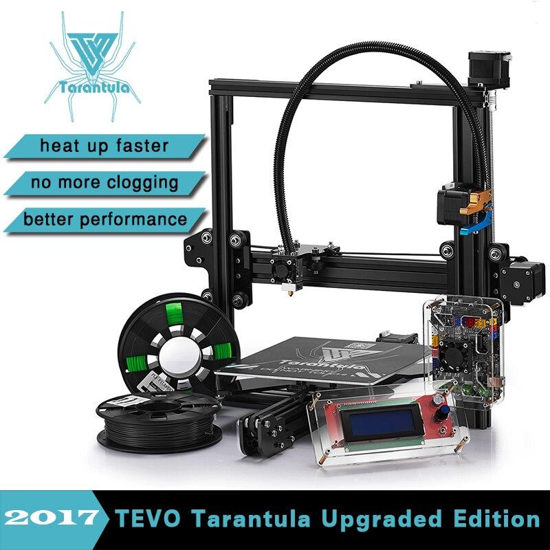Prix pour 2017 Date TEVO Tarantula I3 Aluminium D'extrusion 3D Imprimante kit imprimante 3D Impression 2 Rolls Filament 8 GB SD carte LCD Comme Cadeau