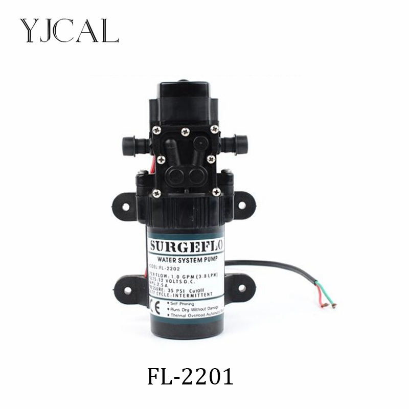 Water Booster Fountain FL-2201 12v High Pressure Diaphragm Pump Reciprocating Self-priming RV Yacht Aquario Filter Accessories