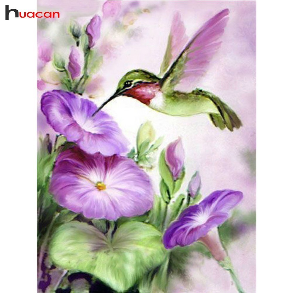 HUACAN Full Square/Round Drill DIY Diamond Embroidery Diamond Painting Flowers Cross Stitch New Arrival Mosaic Decoration Home