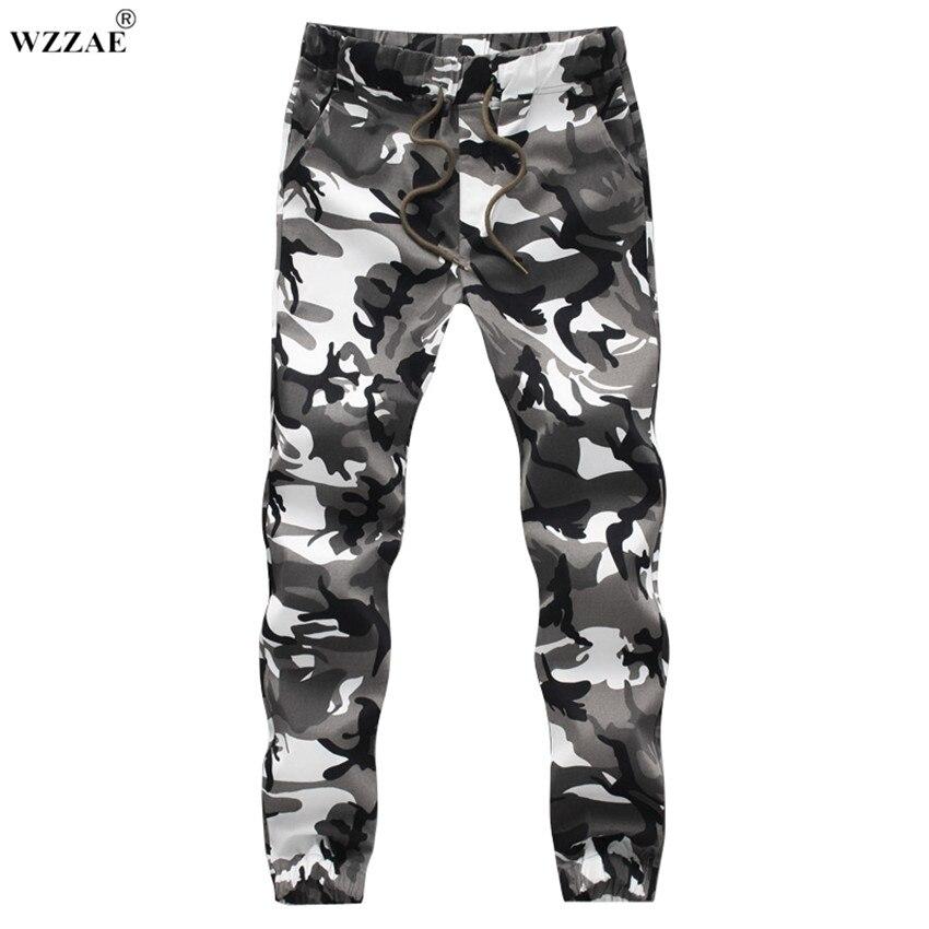 Wzzae 2017 Nuevo diseño para hombre blanco CAMO joggers