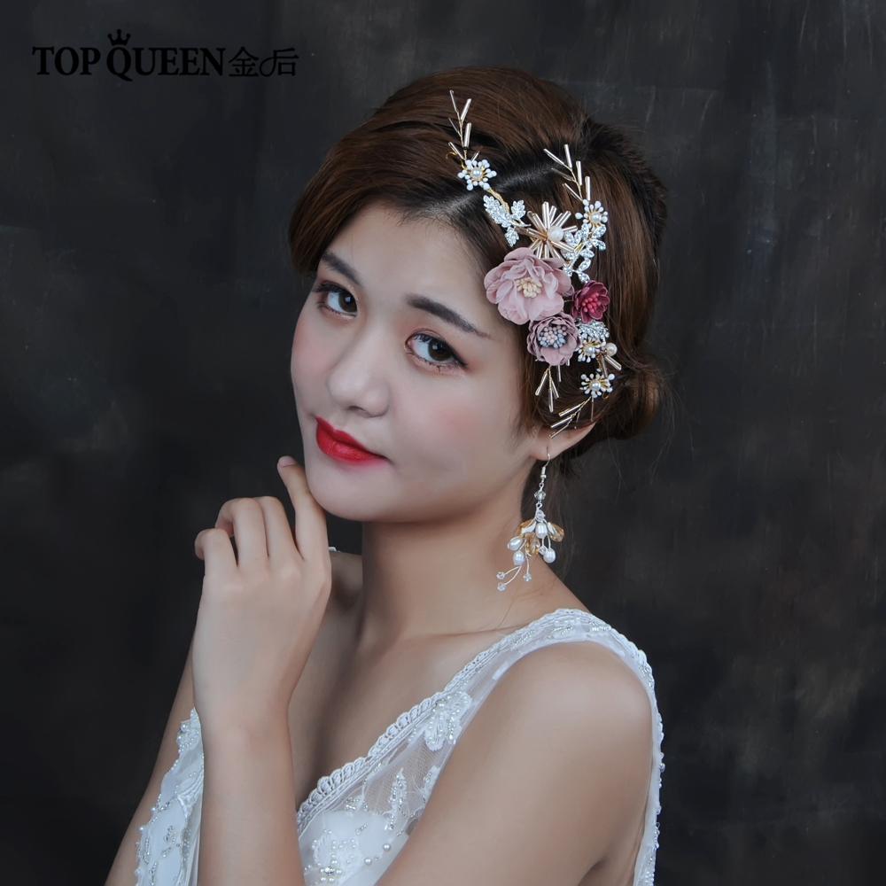 TOPQUEEN HP190 Party Headdress Flowers Adult Flower Crown  Bride Party Headdress Bridal Accessories Bride's Hair Accessories