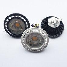 Затемнения 10 Вт 15 Вт COB Led G53 AR111 лампа AC85-265V DC12V GU10 QR111 Встраиваемый прожектор белый корпус черный корпус