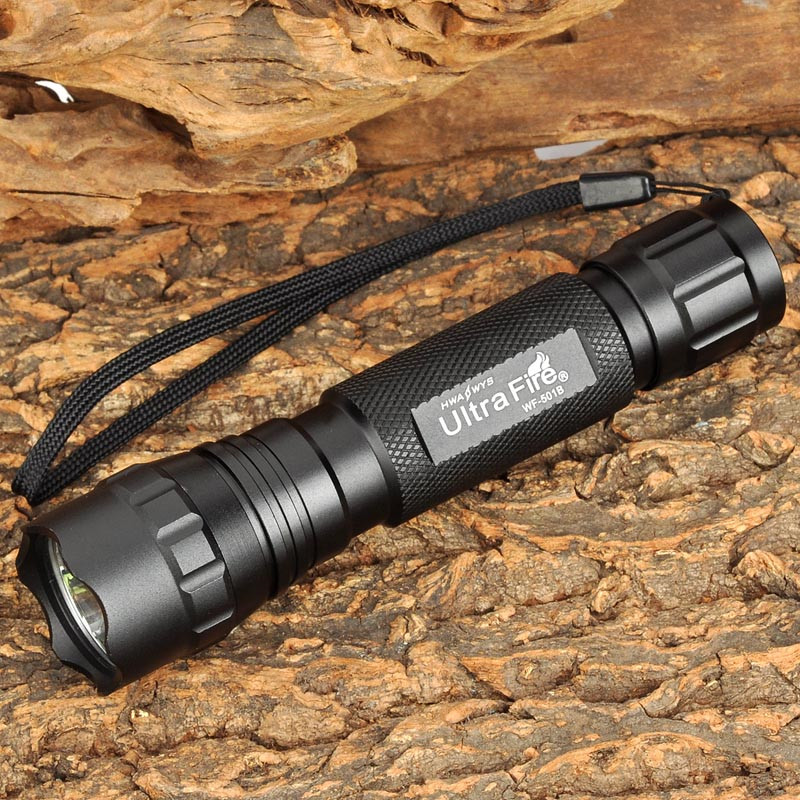 UltraFire CREE XM-LT6 18650 Flashlight Torch Lantern Hunting Outdoor Lighting Tactical Switch T6 Transmitter luz Bulb image