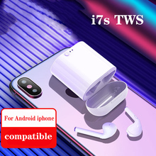 i7s TWS Mini Wireless Bluetooth Earphone Stereo Earbud Headset With Charging Box Mic For Iphone Xiaomi Samsung HUAWEI In-ear wishello true wireless earphones bluetooth wireless 4 2 stereo in ear with mic portable charging box for iphone samsung xiaomi