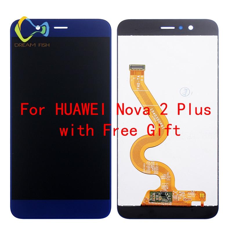 Pour Huawei Nova 2 Plus Ecran lcd + Écran Tactile 100% Nouveau Test bon Digitizer Panneau de Verre de L'écran Pour Huawei Nova 2 Plus La livraison outil