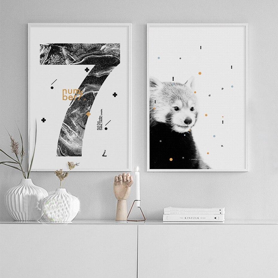 Moderne Bär Kaktus Leinwand Malerei Nordic Poster und Drucke ...