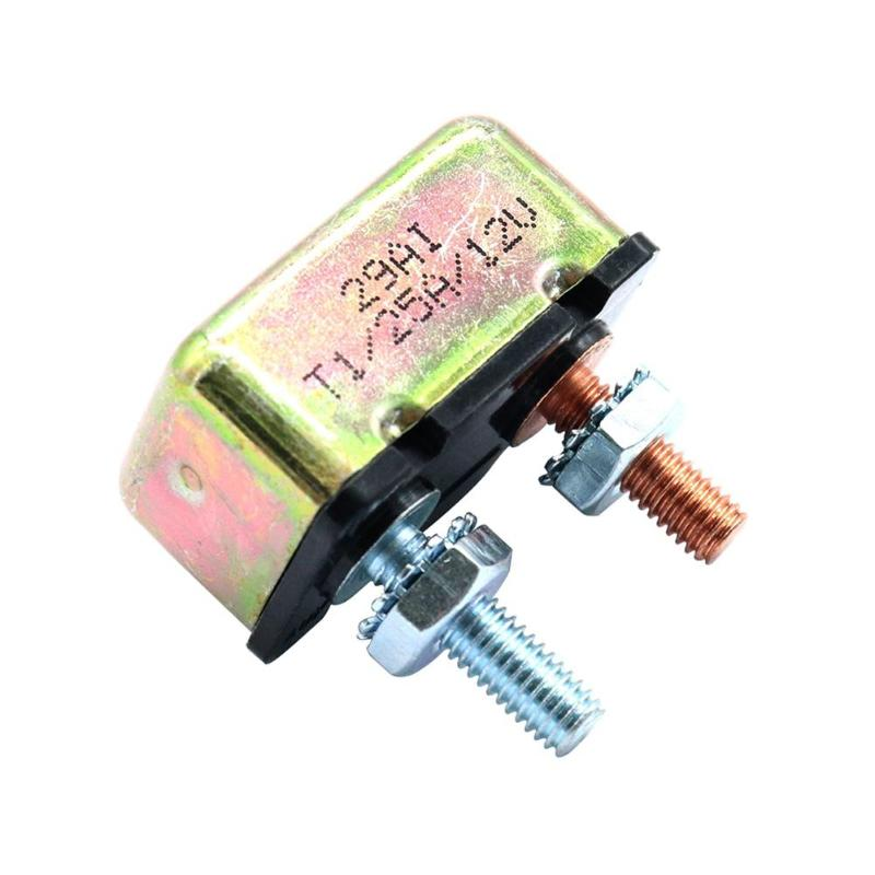 10 AMP 12//24V Circuit Breaker w// Cover Auto Reset Dual Battery 10A Fuse Supplies