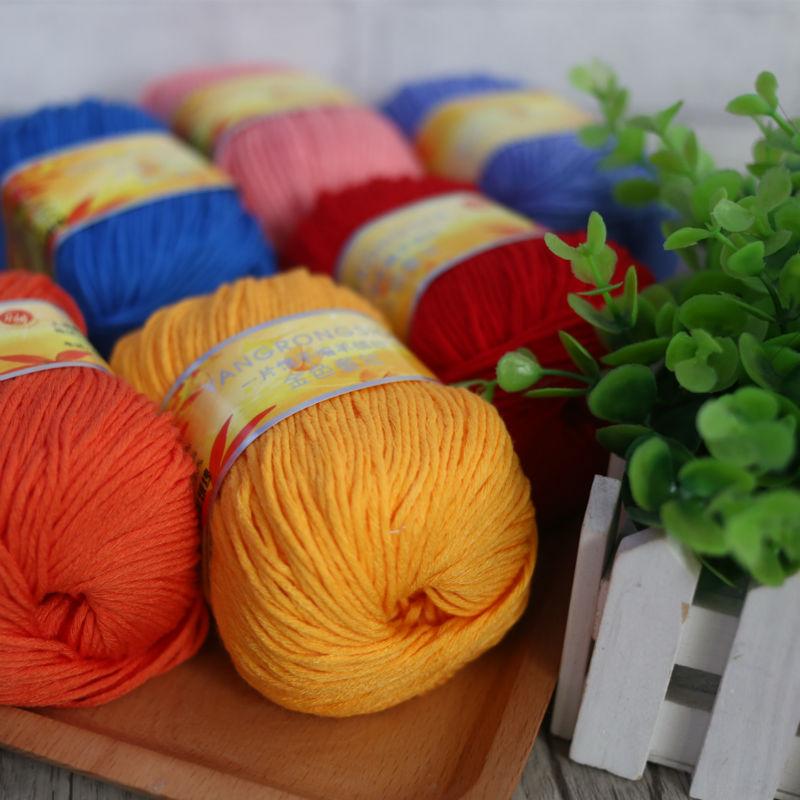 248f28de0a55 Livraison Gratuite 300g (50g   6 pcs) Enfance Tricot À La Main En Cachemire  Fil Fil de Coton de Lait de Soie protéines Goatswool Pour Crochet B