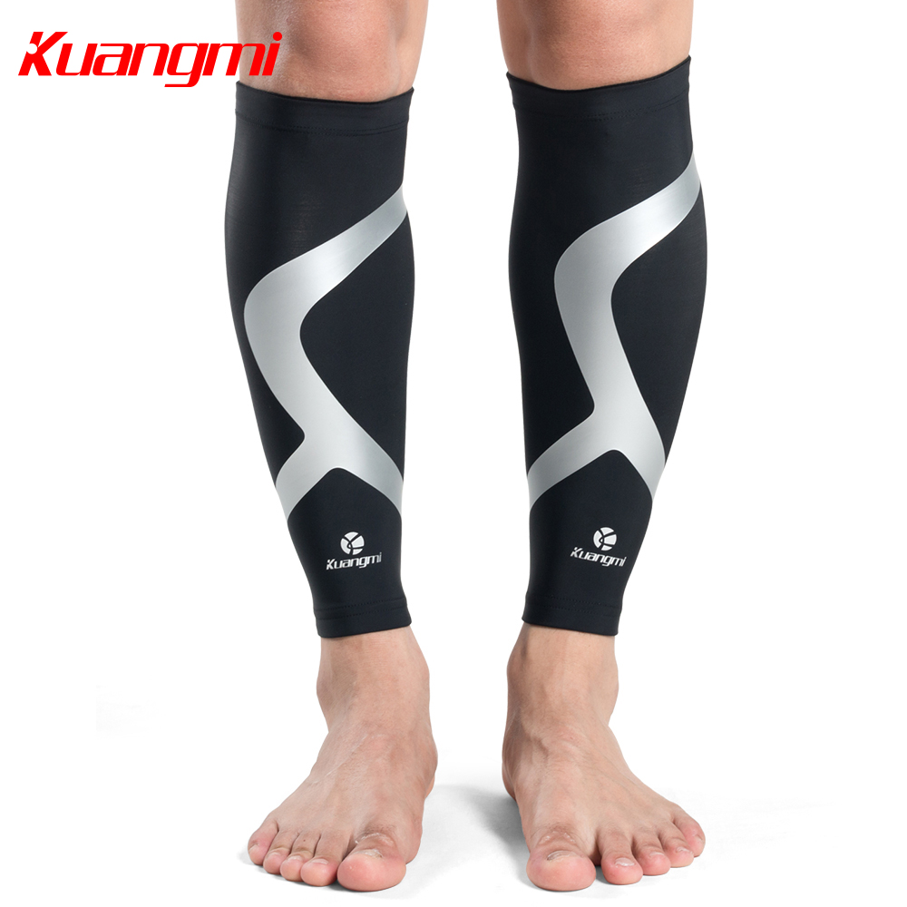 1e72e7e3393f3b Kuangmi 2pcs Calf Compression Sleeves Running Leg Sleeves Socks Cycling Calf  Support Shin Guard Sleeve Protector